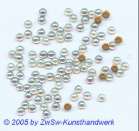 Strassperle 1 Stück, Ø 3,5mm (kristall/AB)