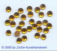 Strasssteine 1 Stück, Ø 6,5mm (bernstein)