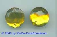 Solitärstein 1 Stück, Ø 20mm  (zitronengelb)