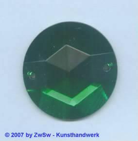 Solitärstein 1 Stück, Ø 35mm  (grün)
