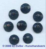 Solitärstein 1 Stück, Ø 15mm  (schwarz)
