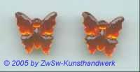 1 Schmetterling 17mm x 17mm  (orange)