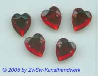 Herz 1 Stück, 12mm x 13mm  (rubin)