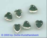 Herz 1 Stück, 10mm x 9mm  (kristall)