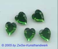 Herz 1 Stück, 10mm x 9mm  (grün)