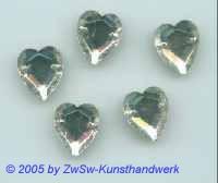 Herz 1 Stück, 12mm x 13mm  (kristall)