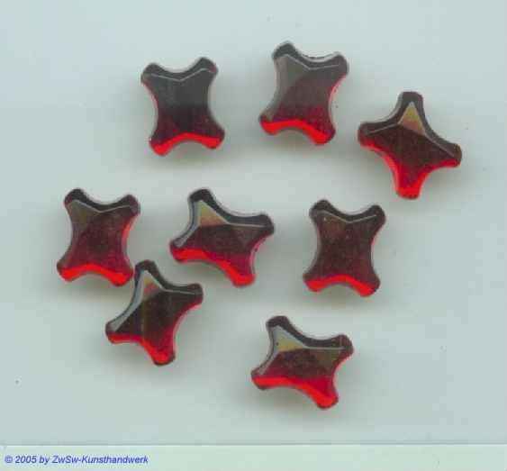 Strassstein 1 Stück 12mm x 10mm (rubin)