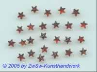 Sternchen 1 Stück, Ø 5mm  (rot/orange)