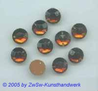 Strassstein 9mm  (dunkeltopas) 1 Stück