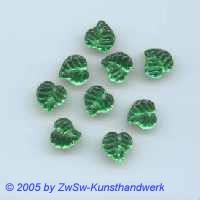 1 Strassstein in Blattform  (grün)