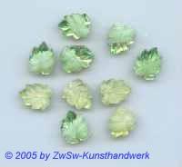 Strass/Blattform 1 Stück  (hellgrün) 13mm x 10mm