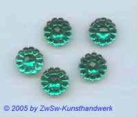 Blütenstrassstein 1 Stück (smaragd) Ø 13mm
