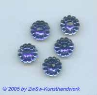 Blütenstrassstein 1 Stück (blau) Ø 13mm