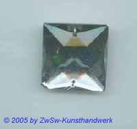 Solitärstein 25mm x 25mm (kristall) II Wahl