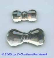 Strassstein in Schleifenform, 30mm x 15mm (kristall) II Wahl