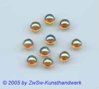 Muggel-Stein 1 Stück, Ø 7mm  (bernstein/AB)