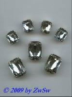 Schmucksteine/gef. 1 Stück, 8mm x 6mm (kristall)