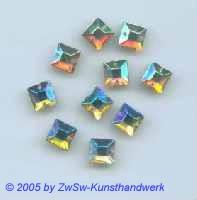 Strassstein 1 Stück, 10mm x 10mm (kristall/AB)