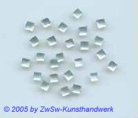 1 Strass/quadratisch 4mm x 4mm (hellaqua)
