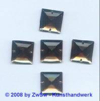 Strassstein 1 Stück, 17mm x 17mm (rauchtopas)