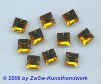 Strassstein 1 Stück, 8mm x 8mm (bernstein)