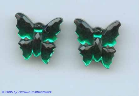 1 Strassstein in Schmetterlingsform (smaragd)