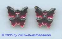 1 Strassstein in Schmetterlingsform (fuchsia)