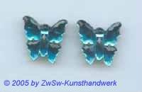 1 Strassstein in Schmetterlingsform (aquamarin)