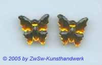 1 Strassstein in Schmetterlingsform (topas)