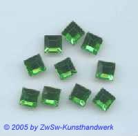 Strassstein 1 Stück, 8mm x 8mm (smaragd)