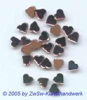 1 Strassstein in Herzform (violett), 5mm