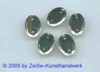 Strassstein 1 Stück, 14mm x 10mm (kristall)