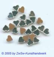 1 Strassstein in Herzform (kristall), 5mm