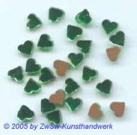 1 Strassstein in Herzform (grün), 5mm