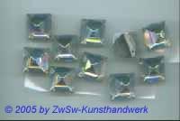 Strassstein 1 Stück, Prisma  (kristall/AB)