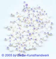 Strasssteine 1 Stück, Ø 2,5mm (weiß/AB)