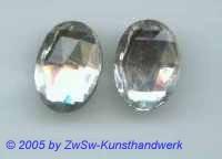 Strassstein oval 1 Stück, kristall, 18mm x 13mm