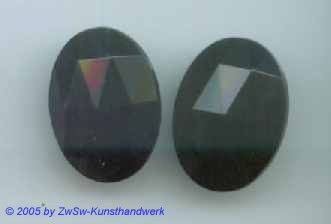 Strassstein oval 1 Stück, schwarz, 18mm x 13mm