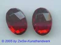 Strassstein oval 1 Stück, rubin, 18mm x 13mm