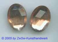 Strassstein oval 1 Stück, rosé, 18mm x 13mm