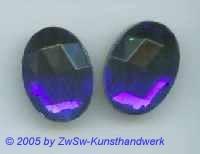 Strasssteine oval 1 Stück, dunkelblau, 14mm x 10mm