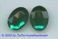 Strasssteine oval 1 Stück, smaragd 18 mm x 13 mm