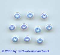 1 Strassstein/geprägter Stern Ø 9mm (weiß/AB)