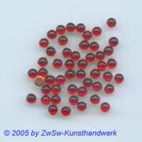 Muggel-Stein 1 Stück, Ø 3mm  (rot)