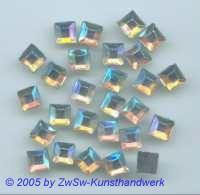 Strassstein 1 Stück, 8mm x 8mm (kristall/AB)