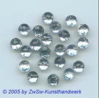 Strassstein 1 Stück, Ø 7mm (stahlblau)