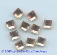 Strassstein 1 Stück, 8mm x 8mm (rosé)