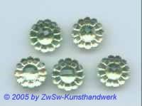 1 Strassstein in Form einer Blüte (peridot), Ø 13mm