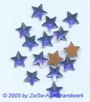 1 Strass/Sternchenform (blau), Ø 10mm