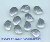 1 Muschelstrassstein stahlblau/seidenglanz